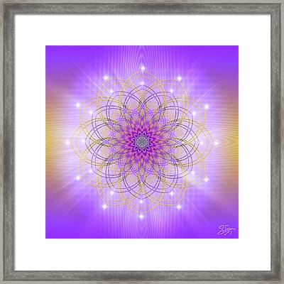 Framed Print featuring the digital art Sacred Geometry 721 by Endre Balogh