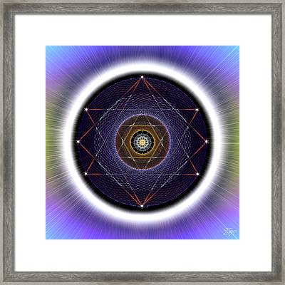 Framed Print featuring the digital art Sacred Geometry 722 by Endre Balogh