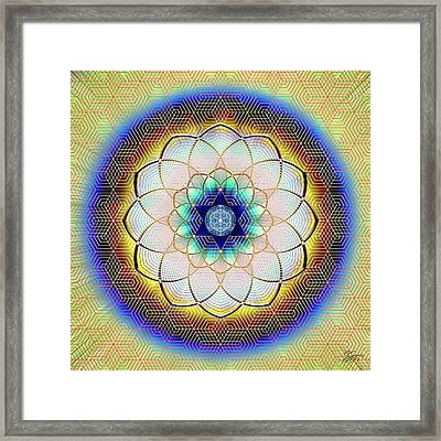 Framed Print featuring the digital art Sacred Geometry 723 by Endre Balogh