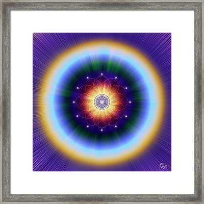 Framed Print featuring the digital art Sacred Geometry 724 by Endre Balogh