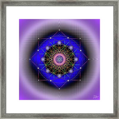 Framed Print featuring the digital art Sacred Geometry 725 by Endre Balogh