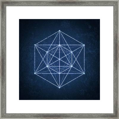 Sacred Geometry  Minimal Hipster Symbol Art Framed Print by Philipp Rietz