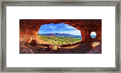 Sacred Ground - Shaman's Cave Framed Print