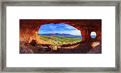 Sacred Ground - Shaman's Cave Framed Print by ABeautifulSky Photography