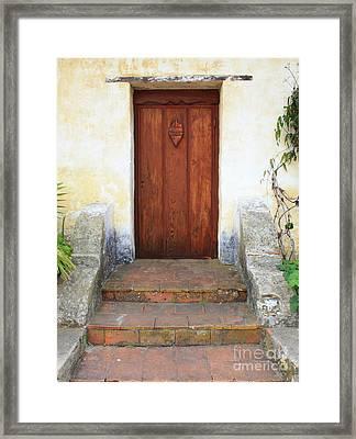 Sacred Heart Door Framed Print