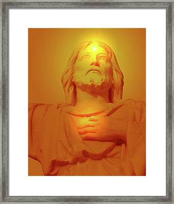 Sacred Heart No. 01 Framed Print by Ramon Labusch