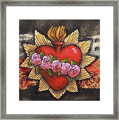 Sacred Heart No. 1 Framed Print by Candy Mayer