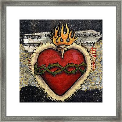Sacred Heart No. 3 Framed Print by Candy Mayer