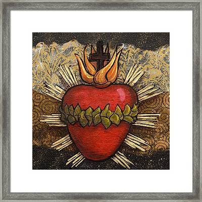 Sacred Heart No. 4 Framed Print by Candy Mayer