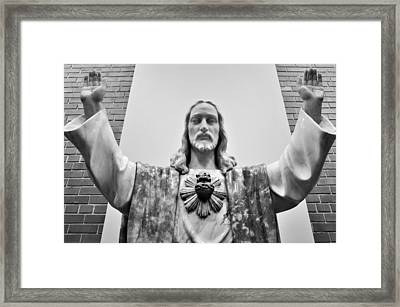 Framed Print featuring the photograph Sacred Heart Of Jesus by Jeanette O'Toole