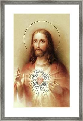 Sacred Heart Of Jesus Framed Print by Movie Poster Prints