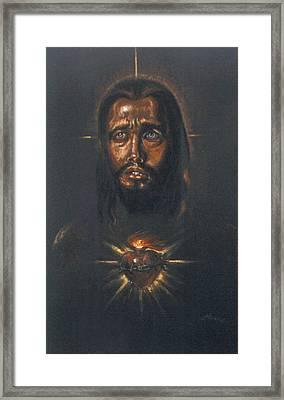 Sacred Heart Framed Print by Tommy  Winn
