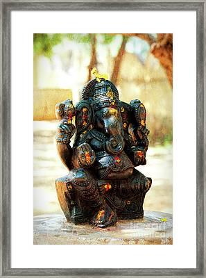 Sacred Indian Ganesha Framed Print by Tim Gainey