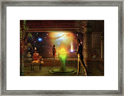 Framed Print featuring the digital art Sacred Journey To Another World by Shadowlea Is
