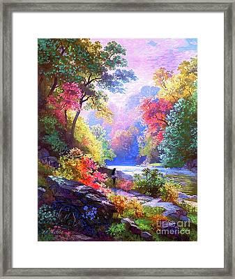 Sacred Landscape Meditation Framed Print