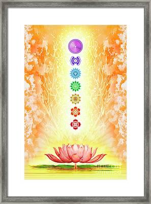 Sacred Lotus - The Seven Chakras Framed Print
