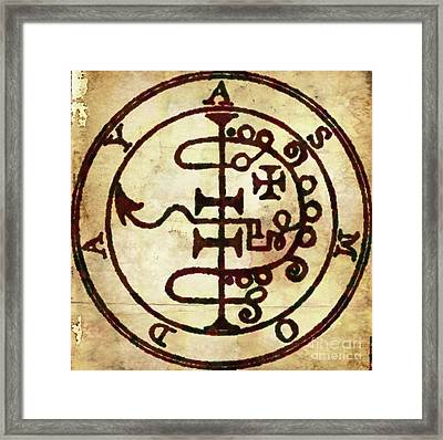 Sacred Magic Symbolism By Pb Framed Print