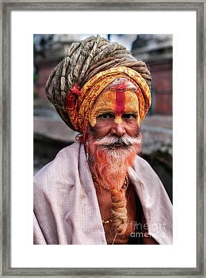 Sacred Makeup Framed Print
