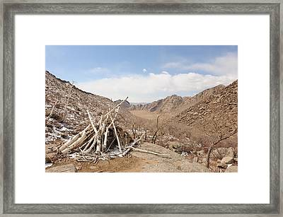 Sacred Mountain Framed Print by Jessica Rose
