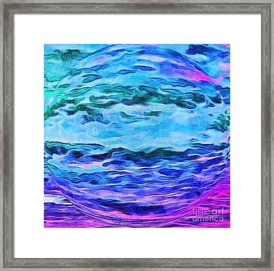 Sacred Planet Framed Print by Krissy Katsimbras