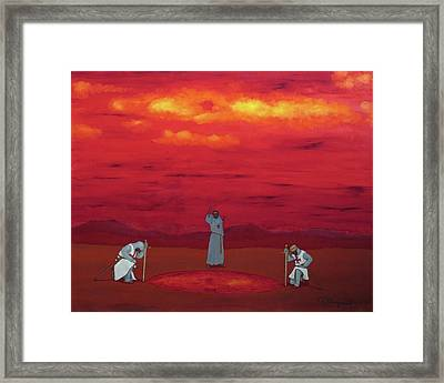 Sacred Pool Framed Print by Robert Marquiss