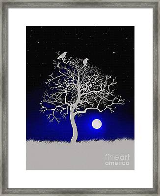 Sacred Raven Tree Framed Print