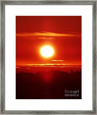Sacred Sizzling Sunset Framed Print by JoAnn SkyWatcher