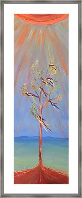 Sacred Sun Dance Tree Framed Print