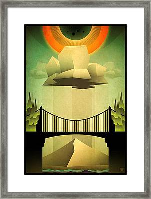 Framed Print featuring the mixed media Sacred Sun Shower by Milton Thompson