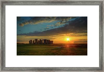 Sacred Sunset Framed Print