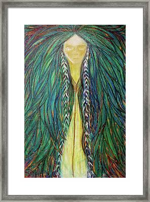 Sacred Teacher Framed Print by NARI - Mother Earth Spirit