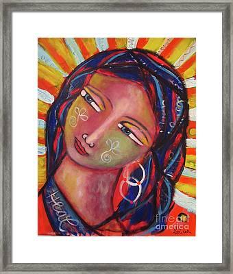 Sacred Traveler, Sacred Healer  Framed Print