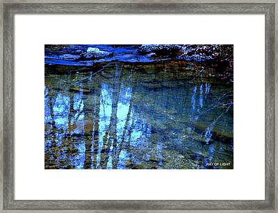 Framed Print featuring the photograph Sacred Water Life by Kicking Bear  Productions