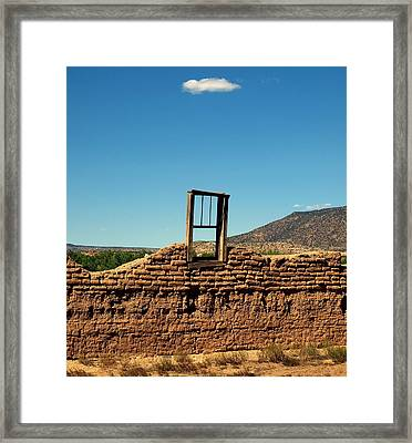Sacred Window Framed Print by Gia Marie Houck