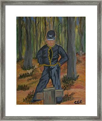 Framed Print featuring the painting Sacrifice by Carolyn Cable