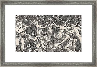 Sacrifice To Priapus Framed Print by Giulio Romano