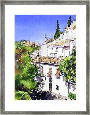 Sacromonte Granada Framed Print by Margaret Merry