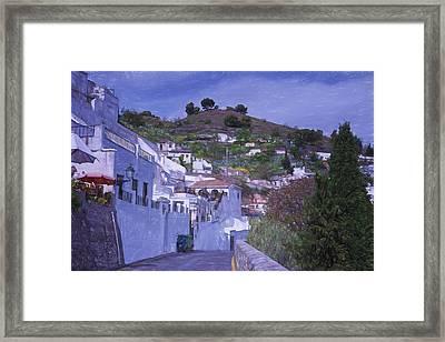 Sacromonte Neighborhood Granada Spain Framed Print by Joan Carroll
