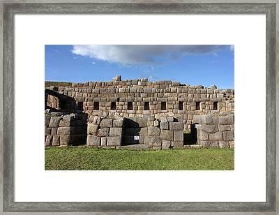 Sacsaywaman Cusco, Peru Framed Print by Aidan Moran