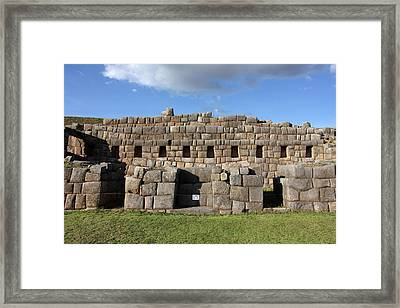 Framed Print featuring the photograph Sacsaywaman Cusco, Peru by Aidan Moran