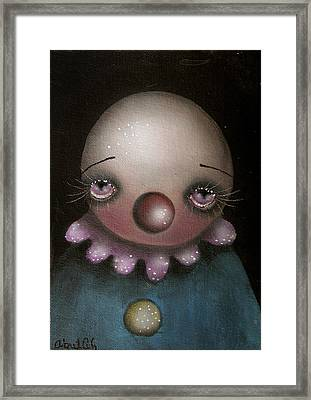 Sad Clown Framed Print by  Abril Andrade Griffith