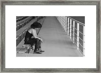 Sad Cowgirl Framed Print