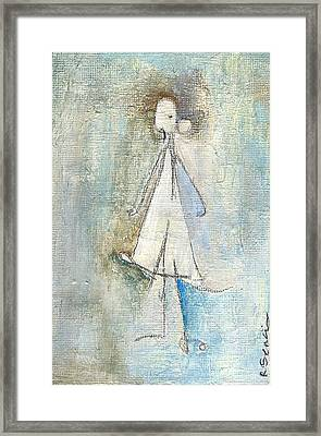 Sad Girl Framed Print by Ricky Sencion