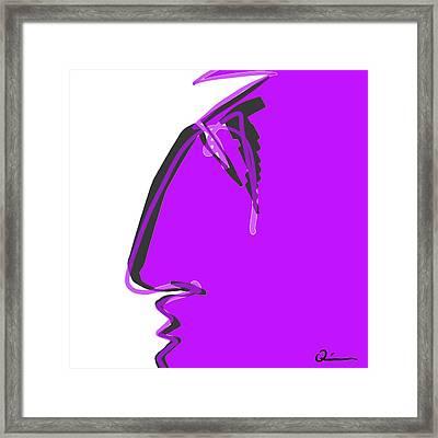 Sad Grape Framed Print