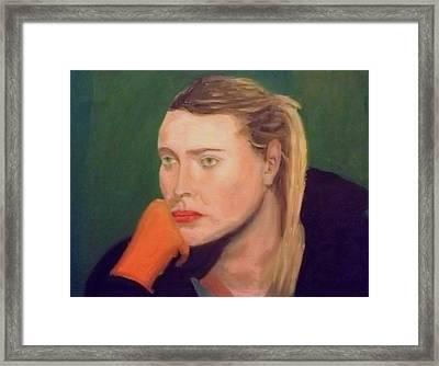 Sad Maria Framed Print by Peter Gartner