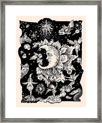 Sad Moon Framed Print by Theresa Taylor Bayer