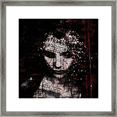 Framed Print featuring the digital art Sad News by Marian Voicu