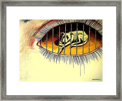 Sad Points Of View Framed Print