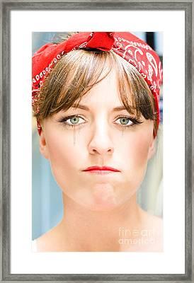 Sad Framed Print by Jorgo Photography - Wall Art Gallery