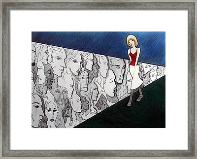 Sad Stroll For Down Doll Framed Print